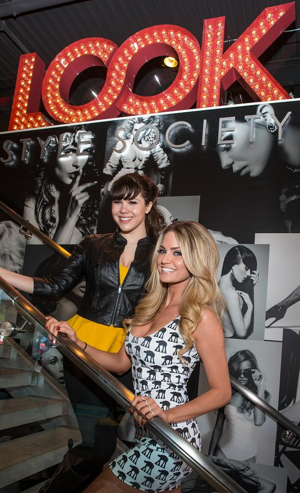 PIN UP star Claire Sinclair with Absinthe star Angel Porrino at LOOK Style Society