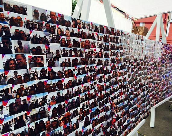 Photo Wall at INSPIRED by the D at Life Is Beautiful Festival