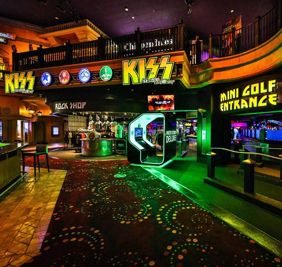 KISS By Monster Mini Golf, a unique rock 'n roll themed amusement attraction based around the world-renowned band KISS, is now open inside the Masquerade Village at Rio All-Suite Hotel & Casino