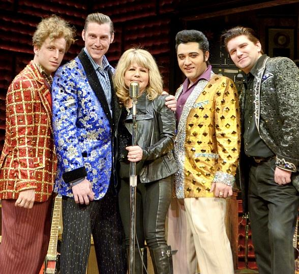 Pia Zadora with Cast of Million Dollar Quartet in Las Vegas