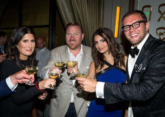 Pilar Guzmán, Robert Weakley, Emily Ratajkowski and David Bernahl II at the 2014 Condé Nast Traveler Hot List Party