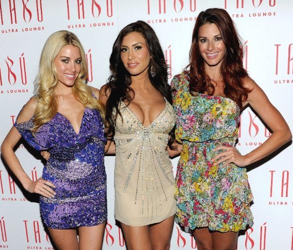 Playboy Playmates on Tabu Red Carpet: Heather Rae Young, Danielle Fornarelli, Jaime Edmondson