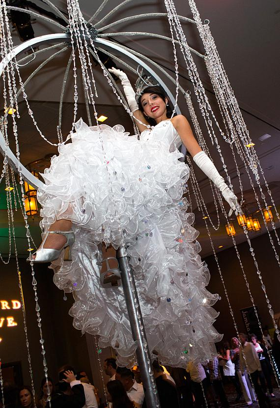 Pole entertainer at AFAN'S 28th Annual Black & White Party