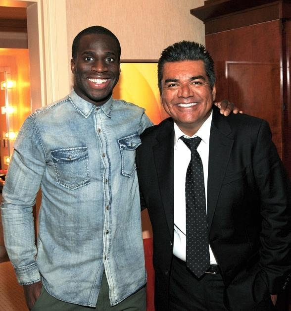 Prince Amukamara and Brandon Rios at George Lopez Aces of Comedy Show at The Mirage Las Vegas