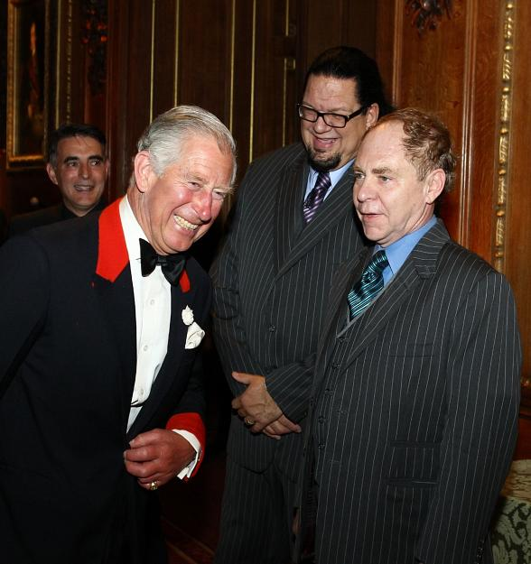 Rio All-Suite Hotel and Casino Headliners Penn and Teller Perform for Prince Charles