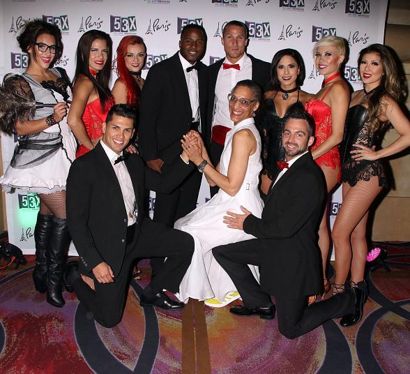 "Carla Hall, Celebrity Chef and Co-host of ""The Chew"" Celebrates Her Husband's 50th Birthday at the Sexy Co-Ed Cabaret - 53X at Paris Las Vegas"