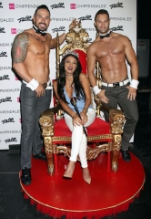 "Bravo's ""Shahs of Sunset"" Star Golnesa ""GG"" Charachedaghi visits Chippendales Las Vegas"