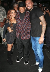 Quincy Jones and Chris Brown at Drai's Nightclub Las Vegas on Halloween