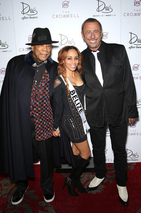 Quincy Jones and Victor Drai Arrive to Drai's Nightclub