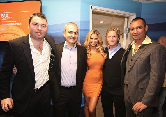 REVIV owners German Kaupert, Dr. Raanan Pokroy, Dr. Andrew Garff and Dr. Johnny Parvani with spokesmodel Jessa Hinton