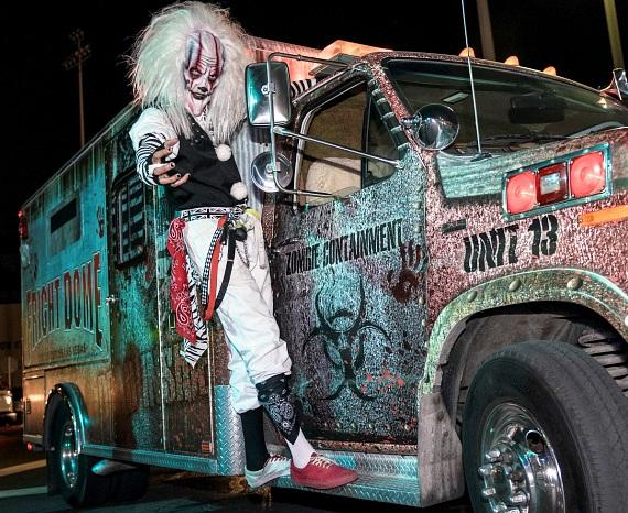 Fright Dome resident on Zombie Containment Vehicle