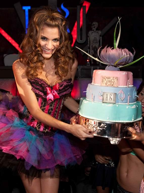 Rachel McCord with her birthday cake