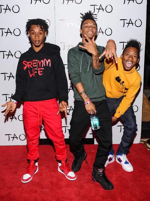 Rae Sremmurd on TAO red carpet