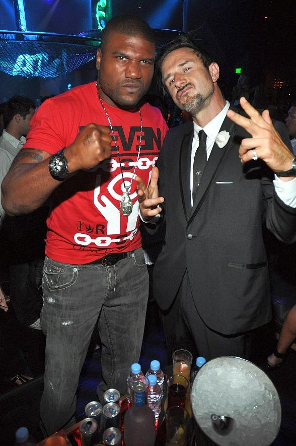 "Quinton ""Rampage"" Jackson and David Arquette"