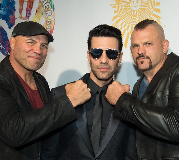"Randy Couture, Chuck Liddell and Criss Angel on the Gold Carpet at Criss Angel ""HELP"""