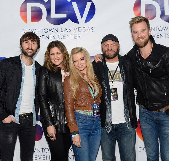 Randy Couture and Mindy Robinson with  Lady Antebellum