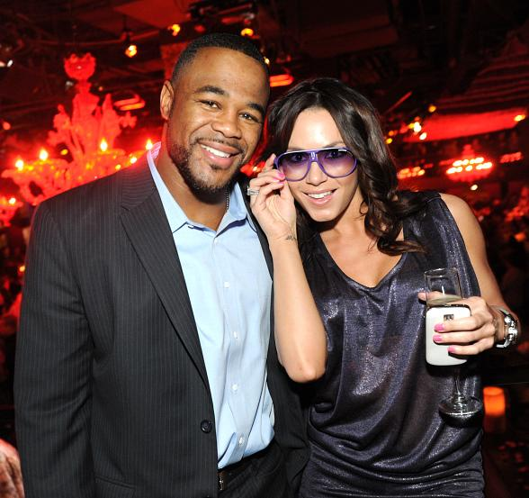 Rashad Evans and Rachelle Leah at TAO