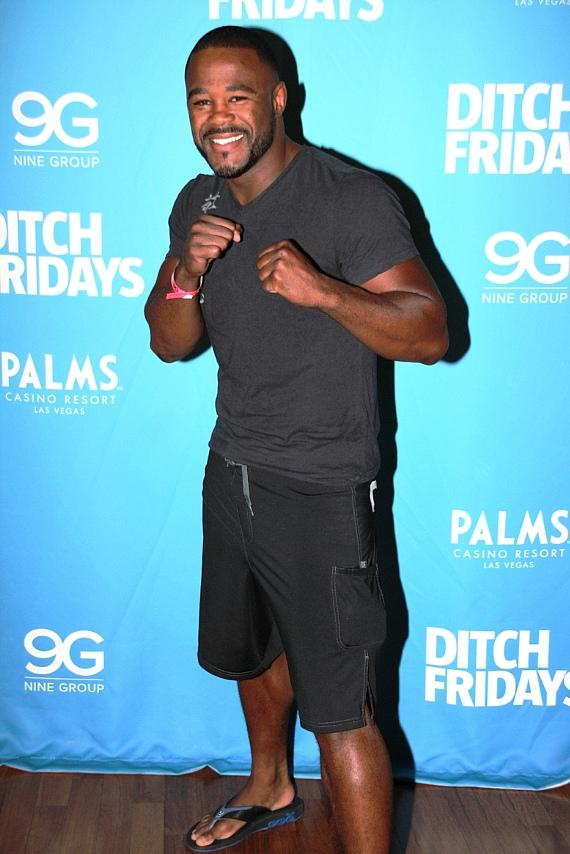 Rashad Evans at Palms Pool & Bungalows in Las Vegas