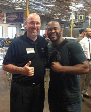 UFC Champion Rashad Evans Partakes in the Action at Pole Position Raceway in Las Vegas