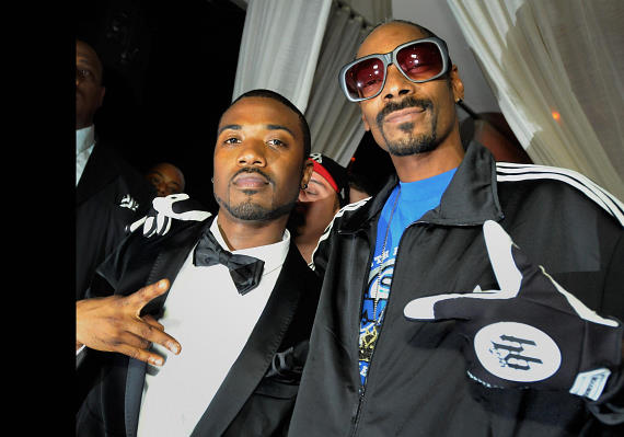 Ray J and Snoop Dogg at PURE Nightclub