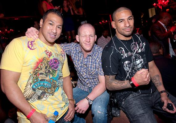 Ray Sefo, Gray Maynard and Jay Hieron at TAO
