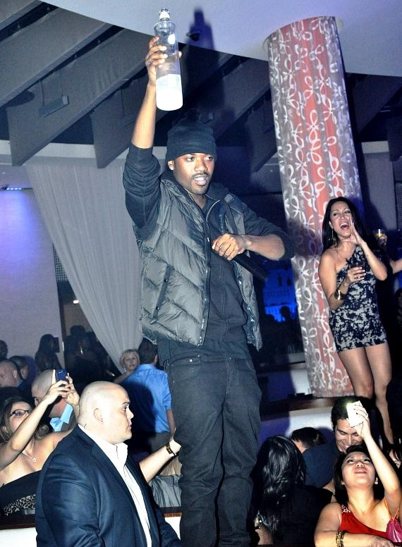 Ray J shares his Ciroc at Club Nikki in Tropicana Las Vegas