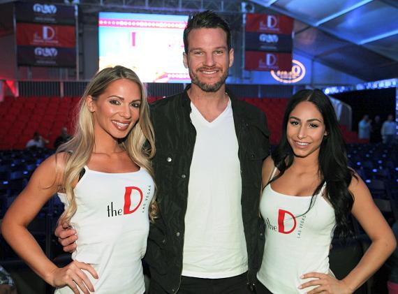 Reality TV star Jesse Kovacs with the D Casino Ring Girls in Las Vegas