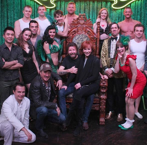 Reba McEntire, Brooks & Dunn Attend ABSINTHE at Caesars Palace