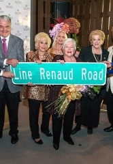 Caesars Palace Las Vegas Honors Legendary French Singer and Actress Line Renaud with Street Sign at the Iconic Resort