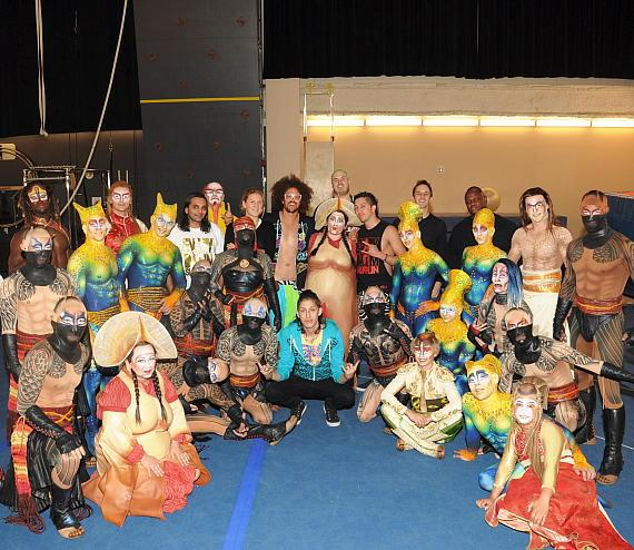Redfoo from LMFAO & Party Rock Crew visit KÀ by Cirque du Soleil