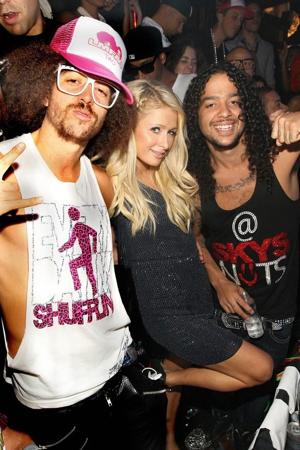 Redfoo, Paris Hilton and SkyBlu at TAO