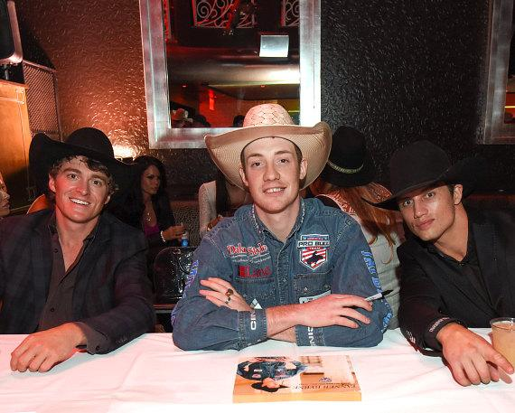 Reese Cates, Tanner Byrne and Bonner Bolton at the PBR Official Launch Party at LAX Nightclub