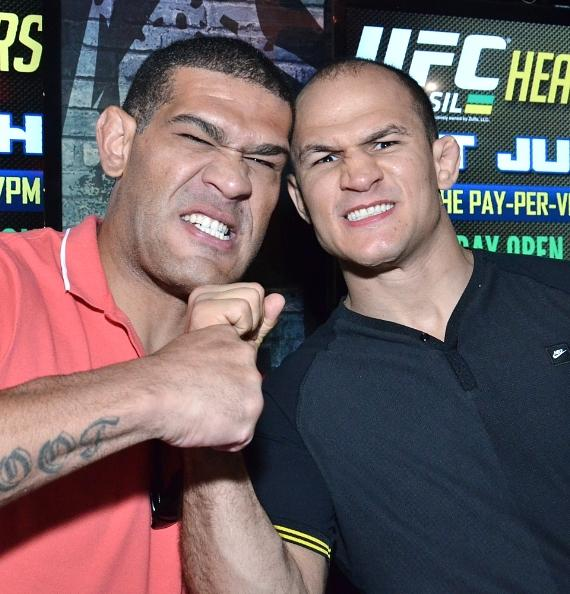 Renan Barão and Junior dos Santos at Rockhouse