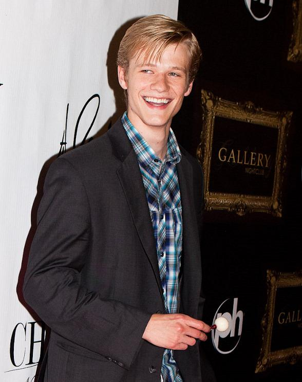 X-Men Star Lucas Till on red carpet at Chateau Nightclub in Paris Las Vegas