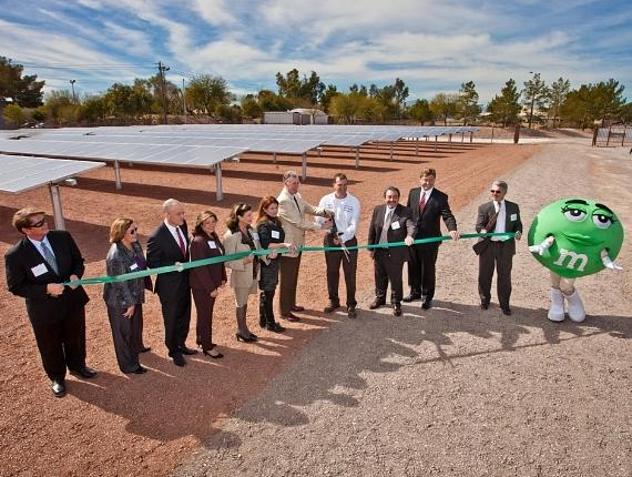 Mars Chocolate North America, makers of Las Vegas' own Ethel M Chocolates, cut the ribbon today for a new solar garden at its Henderson chocolate factory
