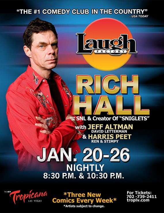 Late Night Legends, Rich Hall & Jeff Altman, to Perform at Laugh Factory in Tropicana Las Vegas Jan. 20-26