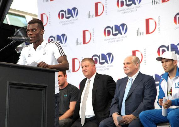 Richard Commey at Knockout Night at the D Press Conference
