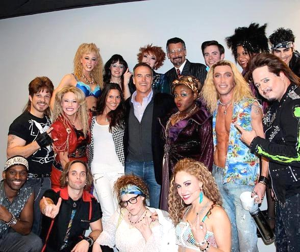 Richard Burgi Meets Cast of Rock of Ages at The Venetian