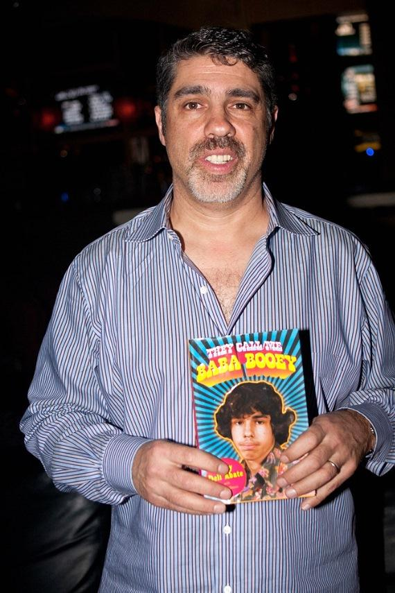 "Gary Dell'Abate with his book ""They Call Me Baba Booey"" at Rick's Cabaret Vegas"