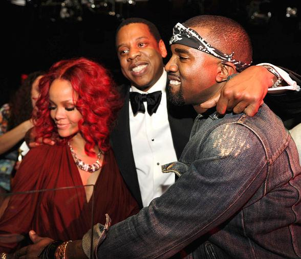 Rihanna, Jay Z and Kanye West