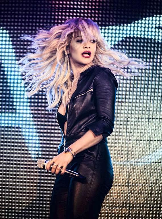 Rita Ora performs at TAO Nightclub