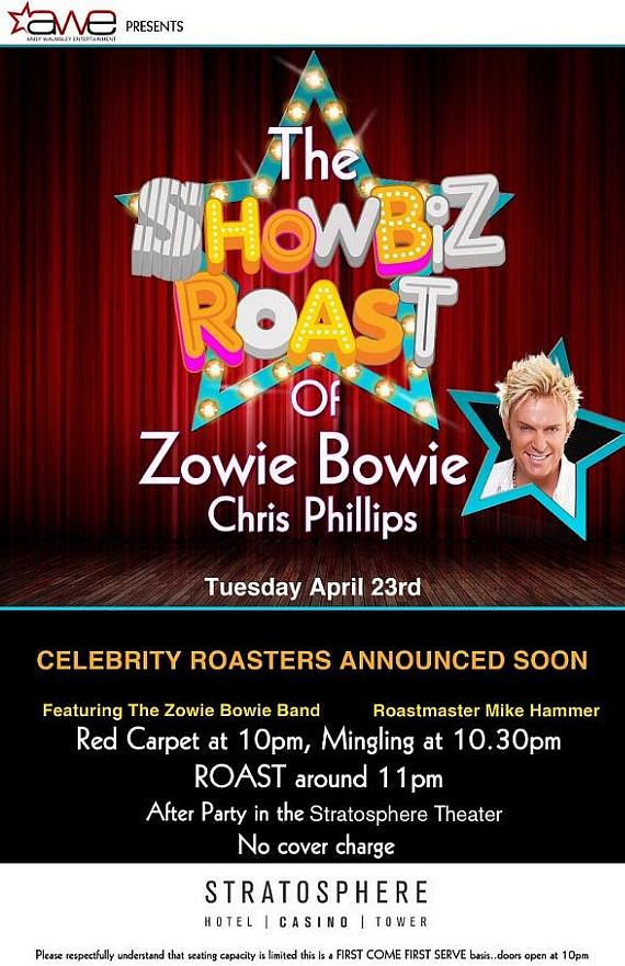 Showbiz Roast of Zowie Bowie at the Stratosphere Theater April 23