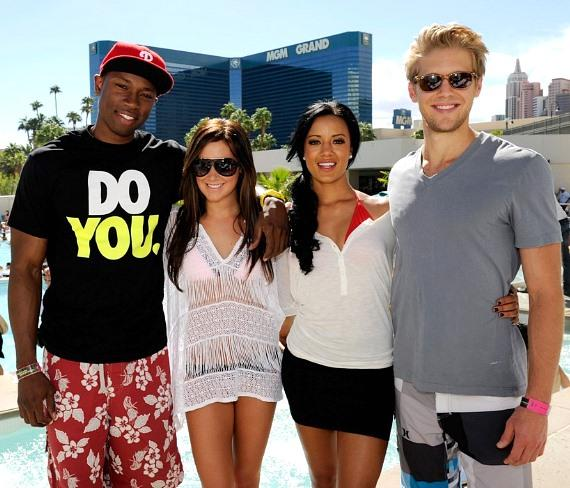 Robbie Jones, Ashley Tisdale, Heather Hemmens and Matt Barr at WET REPUBLIC