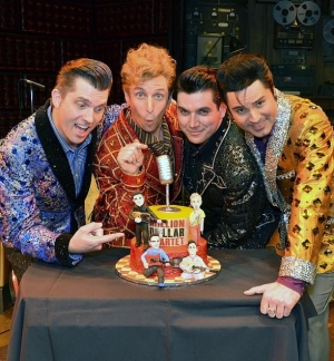 """Million Dollar Quartet"" Celebrates Anniversary of that Legendary Dec. Night with a Rockin' Cake Presentation Dec. 4 at Harrah's Las Vegas"