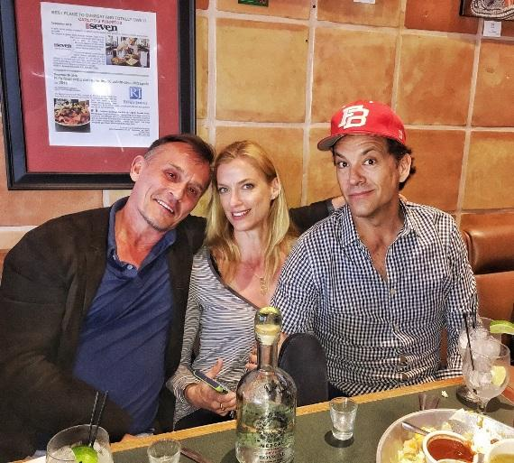 Robert Knepper, Nadine Kary and Knepper Marklen at Henderson's newest hot spot, Carlito's Burritos and Live-Fire-Q