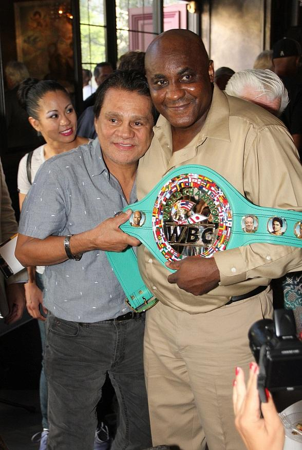 Boxing Legend Roberto Duran and Actress Rosie Perez at BLVD Cocktail Company in Las Vegas
