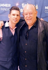 Entertainment columnist Robin Leach pays a visit to the Mike Hammer Comedy Show at Four Queens Hotel & Casino