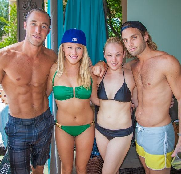 "Azure Luxury Pool at The Palazzo Welcomes Cast of ""Rock of Ages"""
