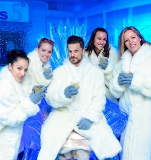 "Rock of Ages Cast Turns ""Cold as Ice"" at Minus5 Ice Bar at Monte Carlo"
