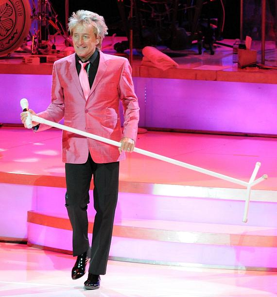 Legendary rocker Rod Stewart performs to a sold-out crowd on opening night of Rod Stewart: The Hits. at The Colosseum at Caesars Palace